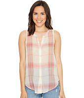 Lucky Brand - Sleeveless Tie Front Top