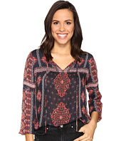 Lucky Brand - Border Print Peasant Top