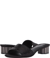 Salvatore Ferragamo - Satin Low-Heel Pump With Crystals