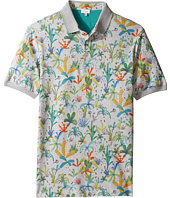Paul Smith Junior - Short Sleeve Plam Trees Polo (Big Kids)