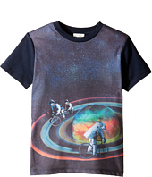 Paul Smith Junior - Short Sleeve All Over Planet Tee (Toddler/Little Kids)