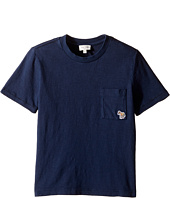 Paul Smith Junior - Short Sleeve Plain Tee with Pocket (Toddler/Little Kids)