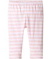 Fendi Kids - Striped Leggings w/ Floral Logo Detail (Infant)