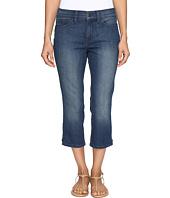 NYDJ Petite - Petite Alina Capri Jeans in Nottingham w/ Rhinestone Clasp