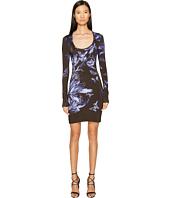 Just Cavalli - Long Sleeve Tulip Heaven Print Jersey Dress