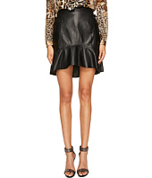 Just Cavalli - Ruffle Tie Side Leather Skirt