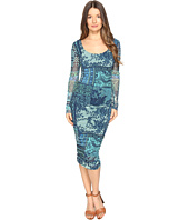 FUZZI - Lace Mosaic Print Long Sleeve Dress