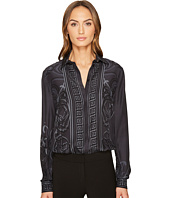 Versace Collection - Printed Long Sleeve Button Up