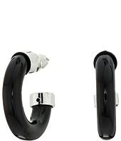 LAUREN Ralph Lauren - 6PM in New York Small Tube 3/4 Hoop Earrings