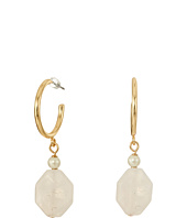 LAUREN Ralph Lauren - Two Dozen Roses Hoop with Stone Drop Earrings