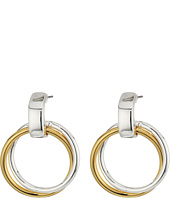 LAUREN Ralph Lauren - Stereo Hearts Small Double Link Doorknocker Earrings