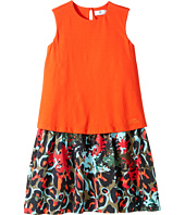 Versace Kids - Layered Dress w/ Animal Print Skirt (Big Kids)