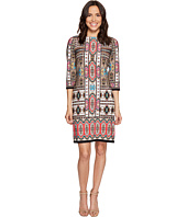 London Times - Puzzle Paisley 3/4 Sleeve Shift Dress
