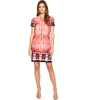 London Times - Carper Medallion Short Sleeve Shift Dress