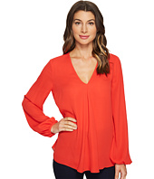 Ellen Tracy - Front Fold V-Neck Blouse