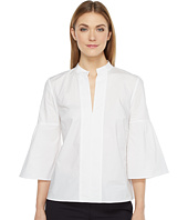 Ellen Tracy - Collarless Lantern Sleeve Shirt
