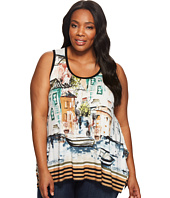 Karen Kane Plus - Plus Size Venice Cityscape Handkerchief Tank Top