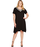 Karen Kane Plus - Plus Size Embroidered Handkerchief Dress