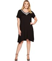 Karen Kane Plus - Plus Size Embroidered Handkerchief Dress
