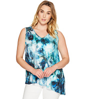 Karen Kane Plus - Plus Size Seaglass Asymmetric Top