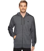 adidas - Essentials 3S Full Zip Brushed Fleece Hoodie