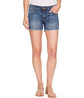 KUT from the Kloth - Petite Gidget Fray Shorts in Consolidated w/ Medium Base Wash
