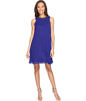 Vince Camuto - Short Chiffon Dress with Side Pleat