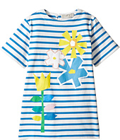 Stella McCartney Kids - Isabella Striped Dress with Floral Graphic (Toddler/Little Kids/Big Kids)