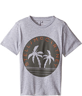 Stella McCartney Kids - Arrow Logo Tee with Palm Trees (Toddler/Little Kids/Big Kids)