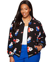 Vince Camuto Specialty Size - Plus Size Travelling Bloom Zip Front Bomber Jacket