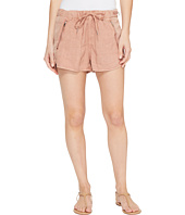 Blank NYC - Drawstring Shorts with Zipper Detail in Fading Rose