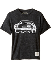 The Original Retro Brand Kids - Vintage Car Short Sleeve Tri-Blend Tee (Big Kids)