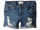 Piper Unstitched Cuffed Jean Shorts in Instinct (Big Kids)