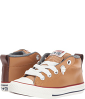 Converse Kids - Chuck Taylor All Star Street Leather and Fleece Mid (Little Kid/Big Kid)