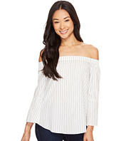 Calvin Klein Jeans - Printed Stripe Off Shoulder Top