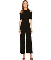 YIGAL AZROUËL - Cold Shoulder Cape Front Jumpsuit