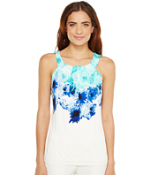 Calvin Klein - Sleeveless Printed Halter Top