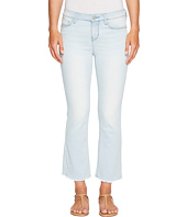 Liverpool - Hannah Cropped Flare with Fringe in Power Blue Soft Denim in Idyllwild Bleach