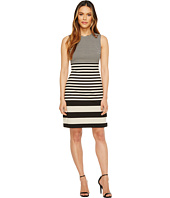 Calvin Klein - Sleeveless Stripe Sheath Dress