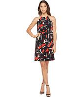 Calvin Klein - Printed Halter Dress with Chain Neck