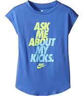 Nike Kids - Ask Me About My Kicks Tee (Little Kids)