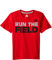 adidas Kids - Run The Game Tee (Toddler/Little Kids)
