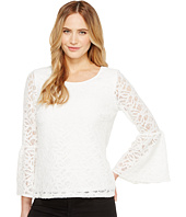 Calvin Klein - 3/4 Lace Flutter Sleeve Top