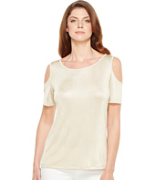 Calvin Klein - Metallic Cold Shoulder Top