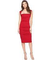 Nicole Miller - Sleeveless Jersey Tuck Dress