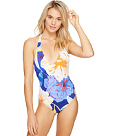 Echo Design - Floral Low V-Back One-Piece Swimsuit