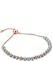Michael Kors - Pearl Tone Pave Crystal and Grey Pearl Slider Bracelet