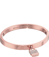 Michael Kors - Logo Tone and Pave Padlock Hinged Bangle Bracelet