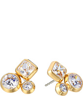 Michael Kors - Tone and Crystal Cluster Stud Earrings