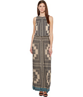 London Times - Sleeveless Printed Blouson Maxi Dress